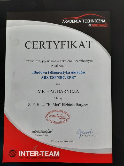 Galeria certificate #4